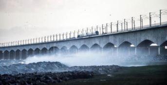 Il ponte sul quale è avvenuto l'incidente in Danimarca