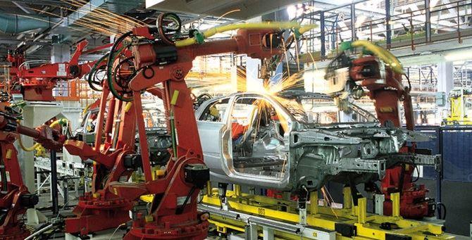 Una fabbrica di auto