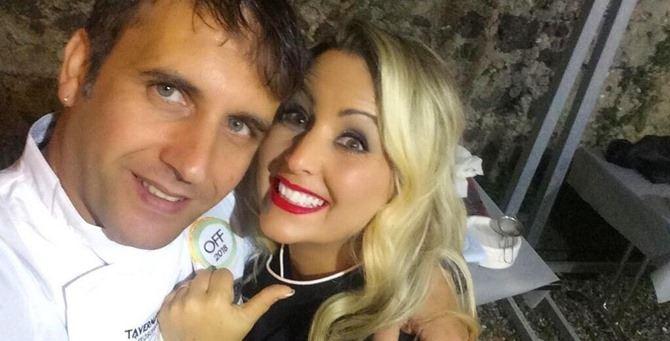 Lo chef Giuseppe Romano con Eleonora Marcello