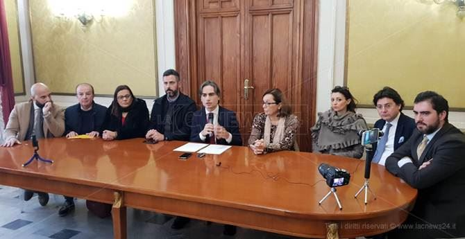 La conferenza stampa convocata da Falcomatà