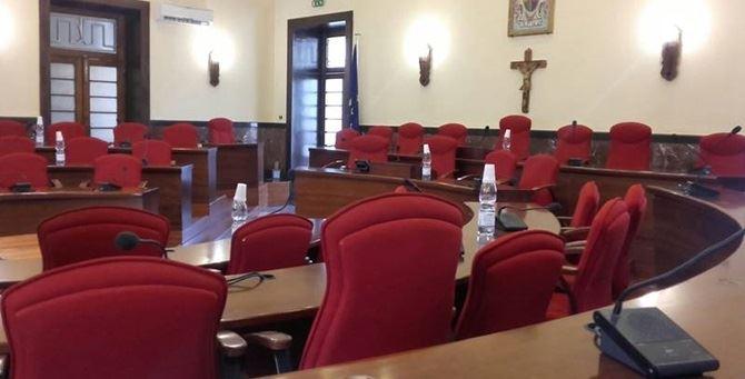 L'aula del consiglio comunale di Vibo