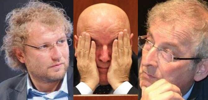 Luca Lotti, Mario Oliverio ed Ernesto Magorno