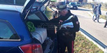 In auto con 100 chili di marijuana, bloccato a Sant'Onofrio