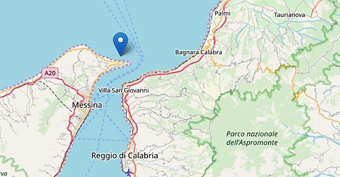 Terremoto nello Stretto di Messina