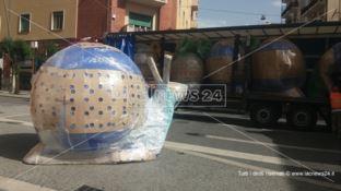 Gli animali giganti del Cracking Art a Cosenza, arrivate le installazioni artistiche