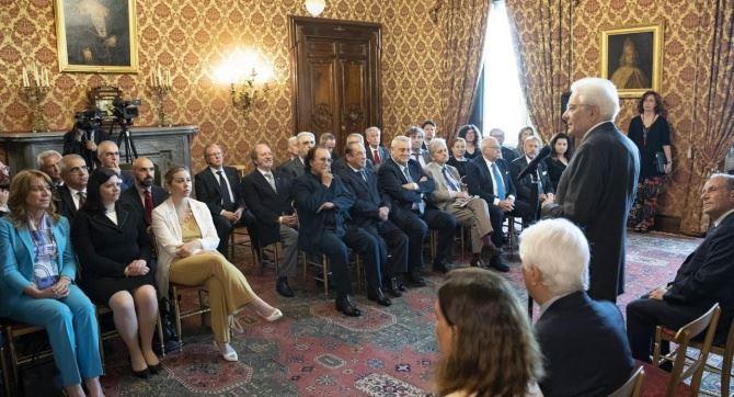 L'udienza con il presidente Mattarella