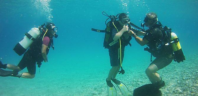 Attività d'immersione a Santa Caterina
