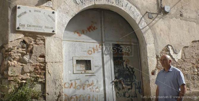 L'ingresso dell'ex carcere di Rossano