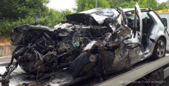 Uno dei mezzi coinvolti nel terribile incidente di giugno a Spadola, nel Vibonese
