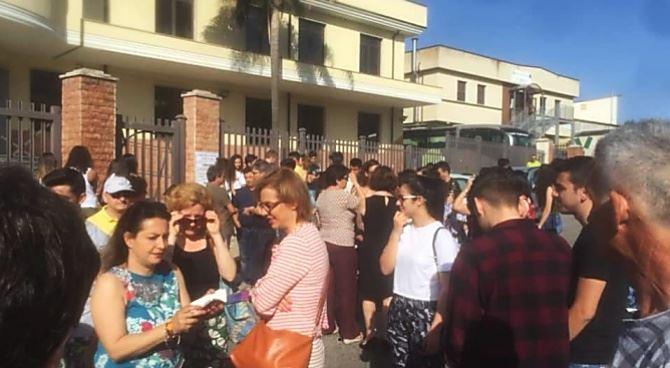 Protesta al liceo Berto