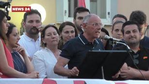 Il giuramento del sindaco Alessio in piazza