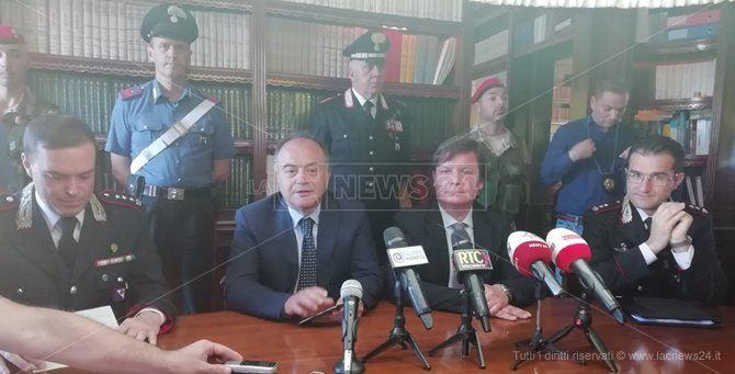La conferenza stampa per illustrare gli esiti dell'operazione Last generation
