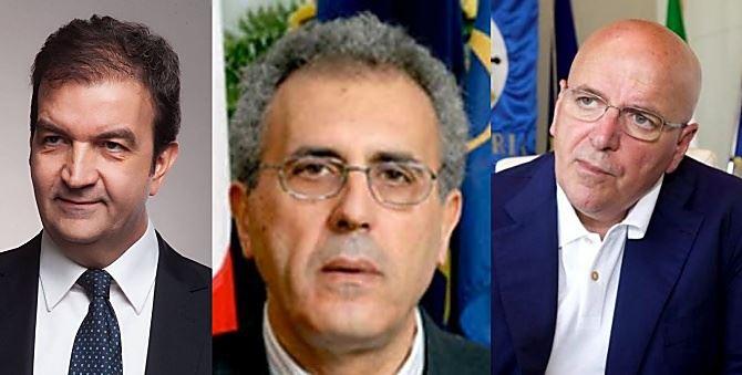 Mario Occhiuto, Nicola Adamo e Mario Oliverio