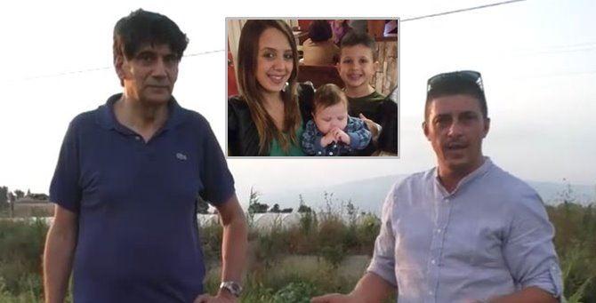 Carlo Tansi e Angelo Frijia. Nel riquadro, Stefania con i figli Cristian e Nicolò