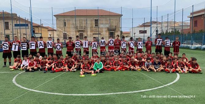 Alcuni ragazzi della Milan Academy