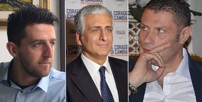 Flavio Stasi, Giuseppe Graziano e Luigi Promezio