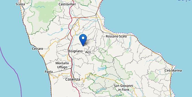 Lieve scossa di terremoto nel Cosentino