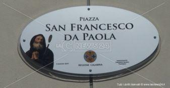Il piazzale della Cittadella regionale dedicato a San Francesco di Paola