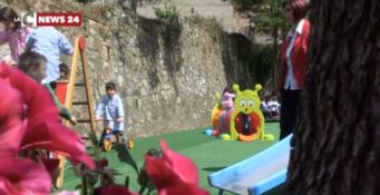Il parco giochi per i bambini realizzato da Pubbliemme