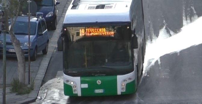 Uno dei mezzi pubblici di Palmi