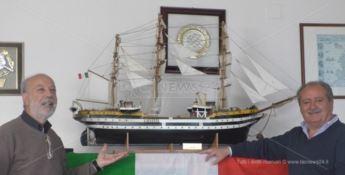 La nave Amerigo Vespucci a Scalea, si lavora senza sosta all'evento