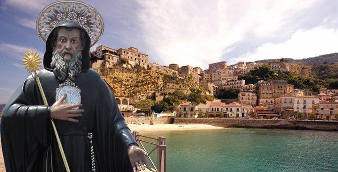 San Francesco di Paola e la città di Pizzo