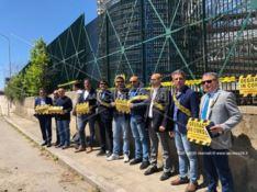 Reggio, costruttori in protesta al cantiere del Palazzo di giustizia