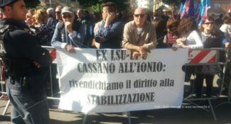 La protesta a Cosenza