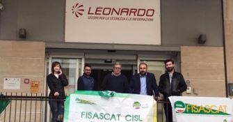Senza stipendio da marzo, protestano i lavoratori della Leonardo Spa
