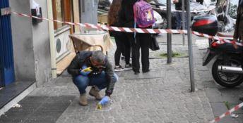 Il luogo della sparatoria di Napoli