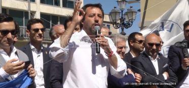 Salvini a Catanzaro: «In Calabria prima gli italiani»