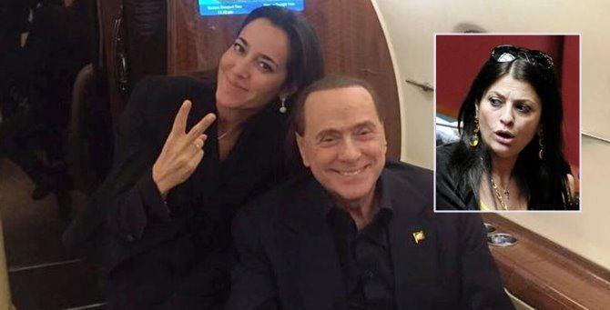 Licia Ronzulli, Berlusconi e, nel riquadro, Jole Santelli
