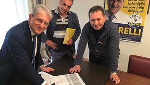 La firma del candidato alle Europee Cerrelli