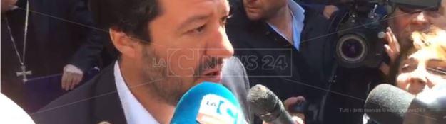 Salvini a Platì: «In Calabria la 'ndrangheta cresce perché c'è fame di lavoro»