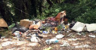 Lamezia, il parco di Caronte deturpato dall'abbandono selvaggio di rifiuti