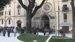 Grande festa a Cosenza, inaugurata la nuova piazza Tommaso Campanella