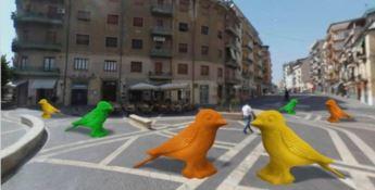 Cosenza, gli animali giganti colorano la città: la cracking art sbarca in centro