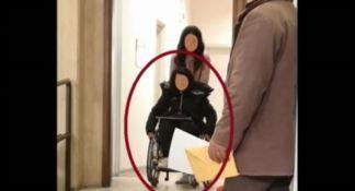 La donna accusata di essere una falsa invalida