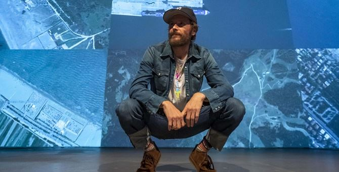 Jovanotti durante la conferenza stampa del Jova Beach Party