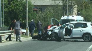 Rende, scontro auto-moto nei pressi dell'Università della Calabria