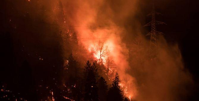Un incendio - Foto di repertorio