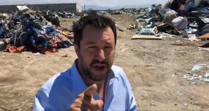 Il ministro Salvini a San Ferdinando