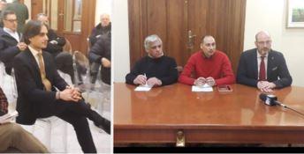 Il sindaco Falcomatà alla conferenza stampa dei consiglieri dissidenti
