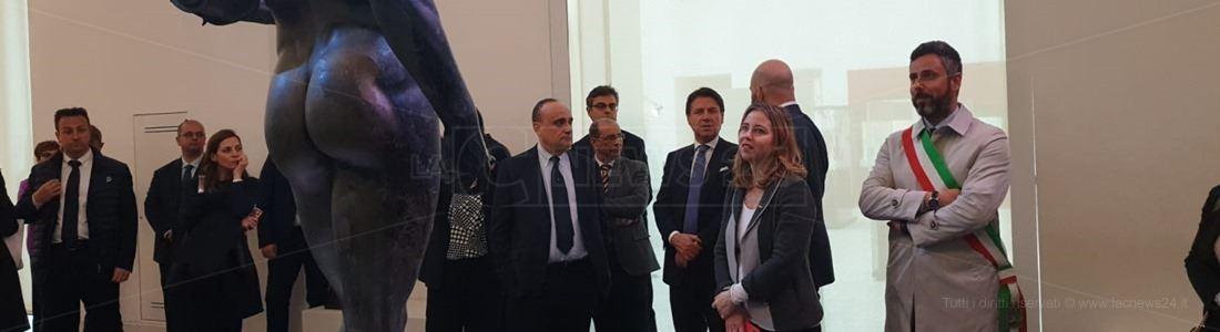 I ministri ieri in visita al museo di Reggio
