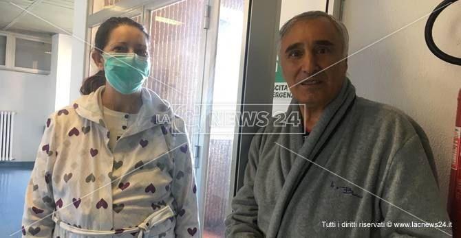 Concettina e Biagio durante la degenza in ospedale a Reggio Calabria