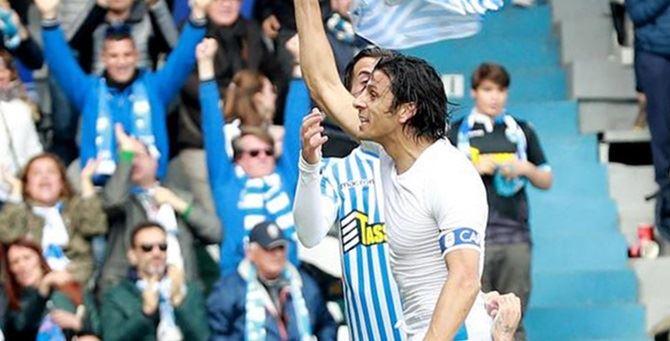 Floccari festeggia il gol alla Juve - Foto Ansa