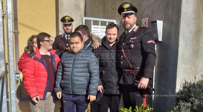 I ragazzi ricevuti dai carabinieri