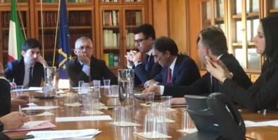 La riunione a Roma con il ministro Speranza