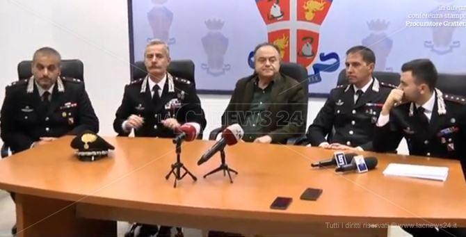 La conferenza stampa dell'operazione Rinascita-Scott
