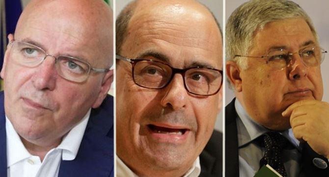 Oliverio, Zingaretti e Callipo